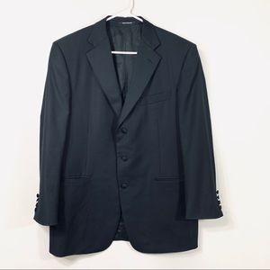 Ermenegildo Zegna Black Wool Blazer Sport Jacket